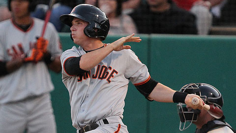 Top Giants prospect Gary Brown had 80 RBIs and 52 steals in 2011.